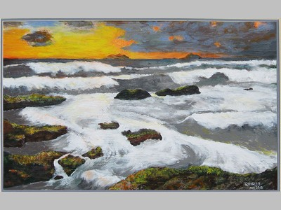 Sunrise At Wedge painting by Jeff Quigley -