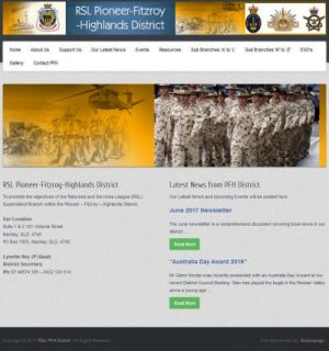 Pioneer Fitzroy Highlands District RSL new website from Studioquigs