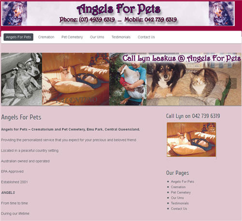 Angels For Pets Lyn Laskus - website by Studioquigs