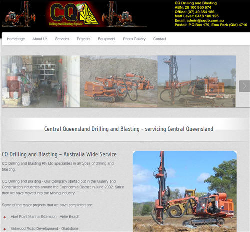 Central Queensland Drilling and Blasting website by studioquigs