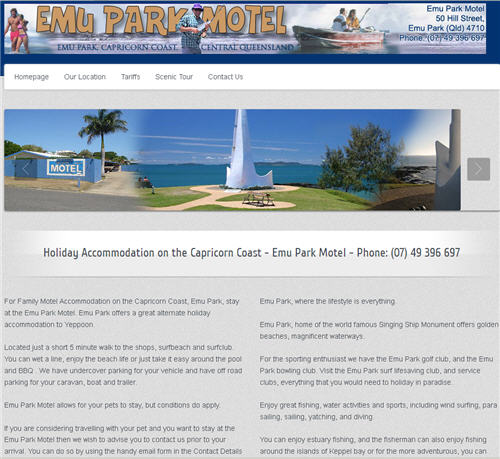 Emu Park Motel Website by Studioquigs
