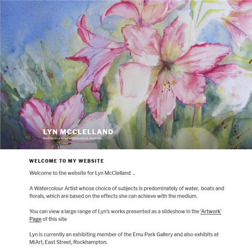 Lyn McClelland Artist website by Studioquigs