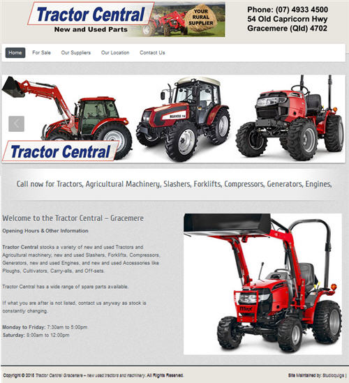 Tractor Central servicing the Gracemere, website by Studioquigs
