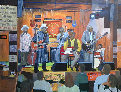 Blues Legends. (April 2018) - By jeff Quigley Artist Emu Park