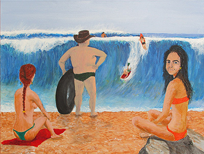 Painting By jeff Quigley Artist Emu Park A man's reach should not exceed his grasp