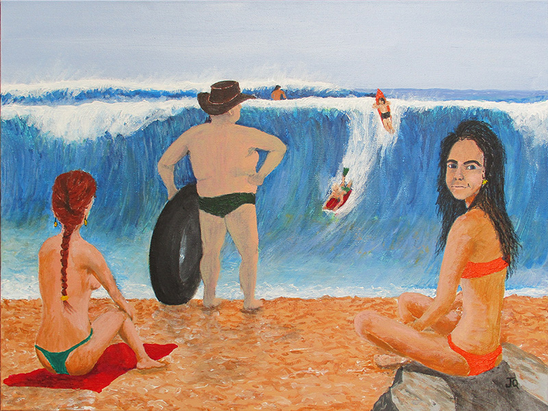 A man's reach should not exceed his grasp - By jeff Quigley Artist Emu Park