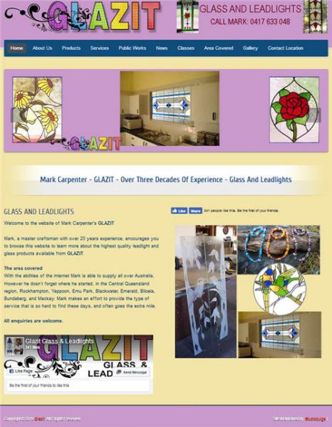 Glazit - glass and leadlights - website of Mark Carpenter's GLAZIT
