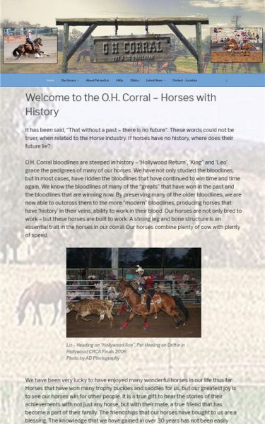 O.H. Corral – Horses with History - Pat and Liz O'Halloran