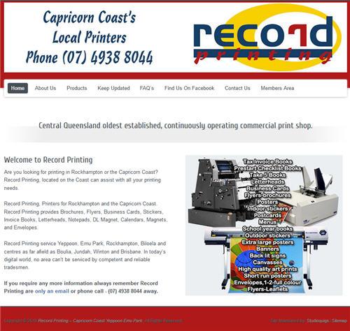 Record Printing Rockhampton