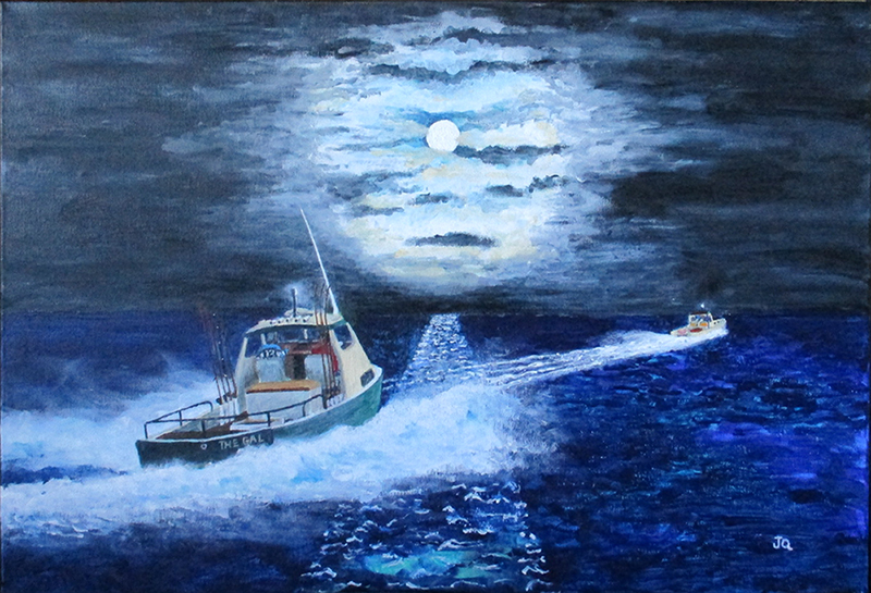Mackeral Moon by Emu Park Artist Jeff Quigley