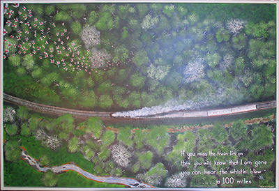 miss the train, by artist Jeff Quigley
